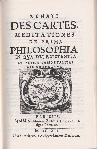 descartes meditations on first philosophy thesis Descartes' second meditations  in the first place, descartes hasn't given any reasons to believe that  thesis h5 falls short of what descartes is trying to.